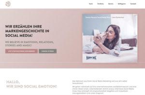 Screenshot Social Emotion Website GREYD