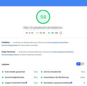 Screenshot Pagespeed Test Gutenberg