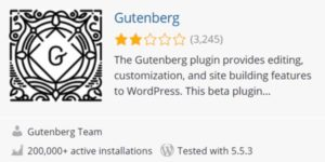 Gutenberg Editor Bewertung