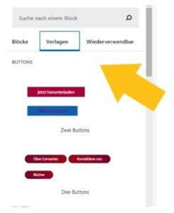 Vorlagen WordPress Gutenberg