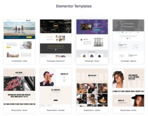 Template Library Elementor