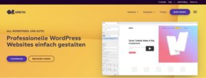 Beispiel above the fold bei firmenhomepage