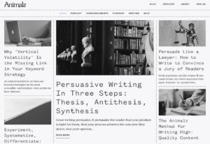 Blog mit Serifen